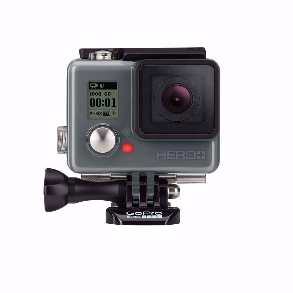 GoPro HERO+ LCD HD Camcorder Action Camera 8MP Bluetooth Wi-Fi Waterproof 1080P