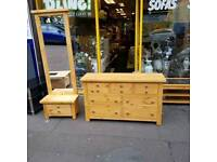 ( BRAND NEW IN THE BOX) oak wood sideboard / chest of drawers