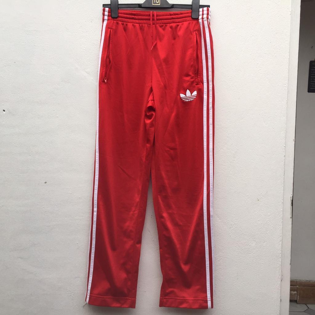 Adidas firebird rossa pantaloni della tuta taglia xs a newham, londra