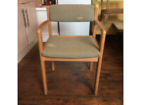 vintage wooden Scandinavian style chair (beautiful frame, needs reupholstering)