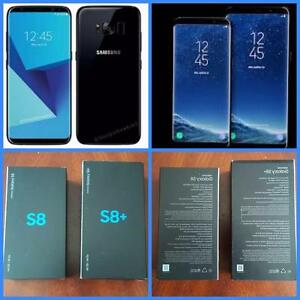 Brand New in Box Samsung Galaxy S8/S8+Plus - Midnight Black Unlocked!!**WIND/Freedom/Rogers/Bell/Telus/Fido/Koodo/Virgin