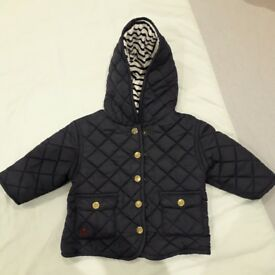 Mamma and papas quilted jacket aged 3 to 6 month's