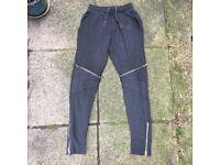 Zara grey zipped joggers size small