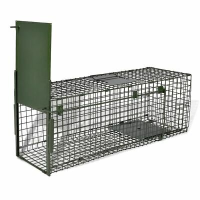 Humane Live Catch Trap Fox Cat Mesh Cage Rodent with 1 Door 80 x 25 x 25 cm New