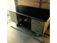 Industrial retro desk