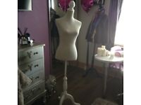 Full sized Mannequin size 10-12 in white for ornament beautiful condition bargain