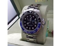 New Rolex Gmt Mater Batman Comes Rolex Bagged and Boxed with Paperwork