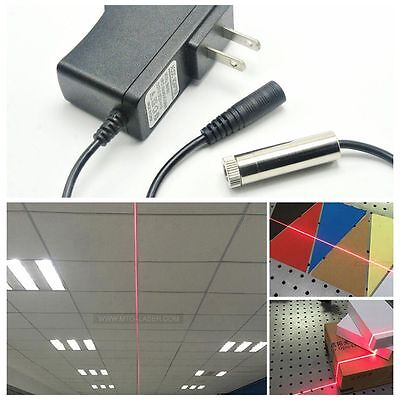 Adjustable 650nm 50mw Red Line Beam Laser Diode Module W 5v 1a Ac Power Supply