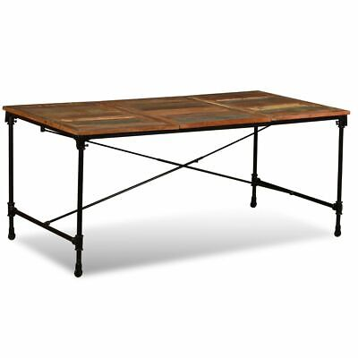 """vidaXL Dining Table Solid Reclaimed Wood Vintage 70.9"""" Dining Room Kitchen"""