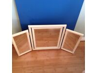 Mirror - Triple Folding mirror, free standing, middle will tilt. All in excellent condition.