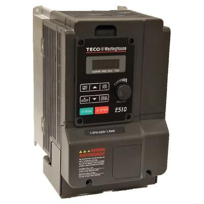 5 Hp 3 Phase 230 Volts Teco Nema 1ip20 Variable Frequency Drive E510-205-h3-u