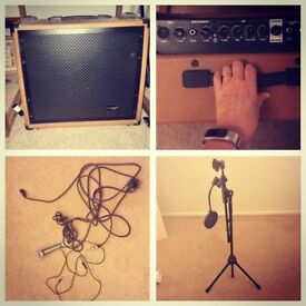 Amp, microphone and stand