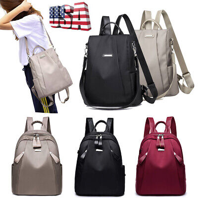 Fashion Women Waterproof Oxford Cloth Travel Backpack Double Shoulder Handbag US