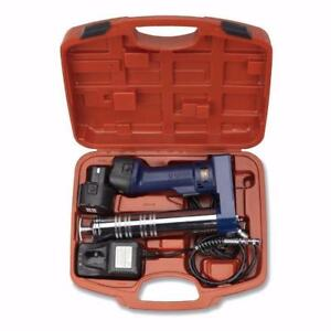 NEW 12V GREASE GUN PORTABLE CORDLESS GREASE GUN (2) BATTERY 12VGG