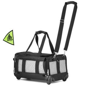 NEW Sherpa on Wheels Pet Carrier, Black