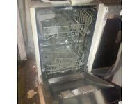fully integrated NEFF slimline dishwasher in very good condition can deliver