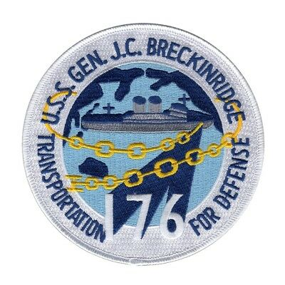 USS Gen. J.C. Breckinridge T-AP 176 Military Patch TRANSPORTATION FOR DEFENSE