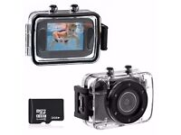 Foxnovo 123S 2.0-inch Touch Screen 10M Waterproof Sports Digital Camera DV Camcorder (Black)