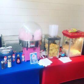 Candy floss Hire, chocolate fountain, popcorn, hotdogs, bouncy castle, slush,Cheap