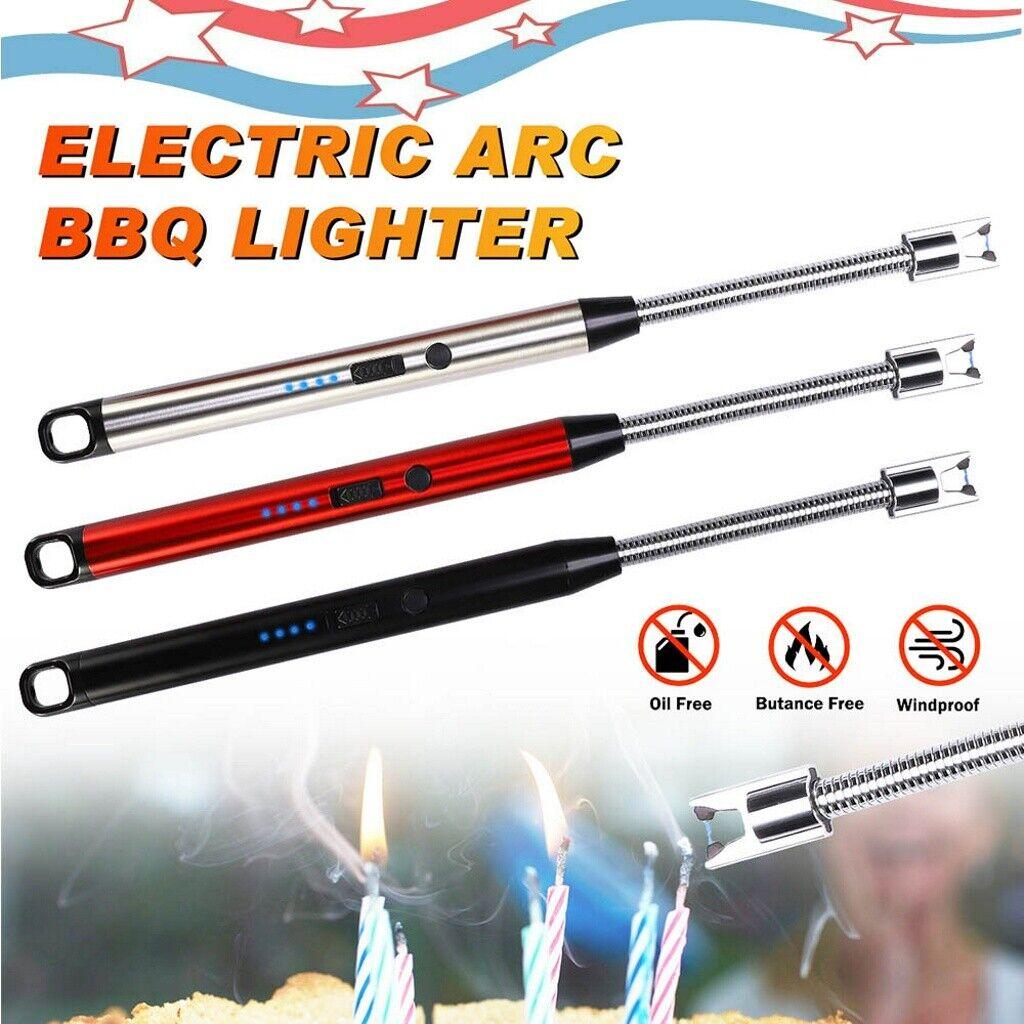 Elektro Lighter Lichtbogen Stabfeuerzeug USB Feuerzeug BBQ Winddicht Outdoor NEU