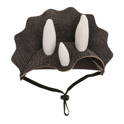 Triceratops Hat Pet Costume Accessory Funny Pet Clothes Dog Cat Costume (Dog Triceratops Costume)