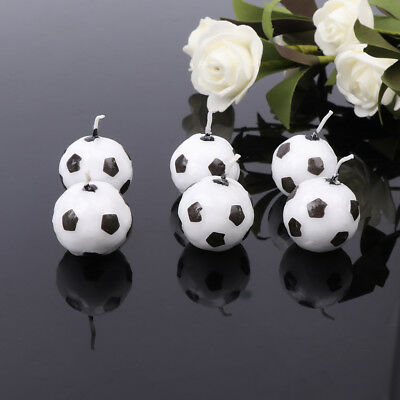 6Pcs/Set Soccer Ball Football Candles For Birthday Party Kid Supplies - Soccer Birthday Party Supplies