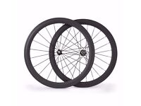 Carbon Bike Bicycle Wheels Wheelset 700c Road Racing 52mm Clincher New Matt Basalt Braking Line
