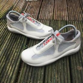 Prada white grey trainers size 4