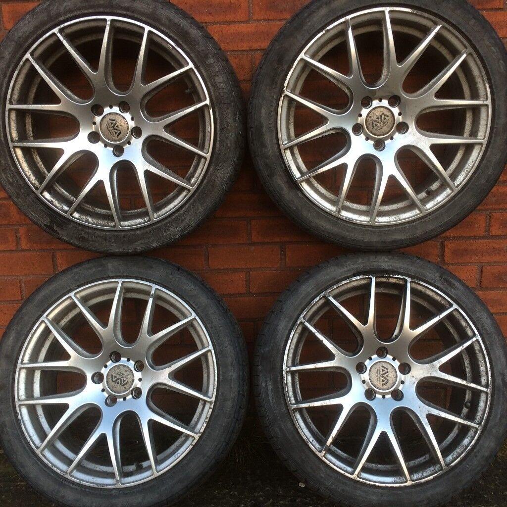 Ava Phoenix Boston 18 Alloy Wheels Tyres Vw Golf Caddy