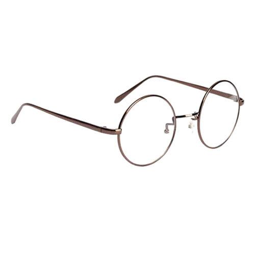 Retro Vintage Runde Brille Mit Fensterglas Damen Herren Brillenfassung