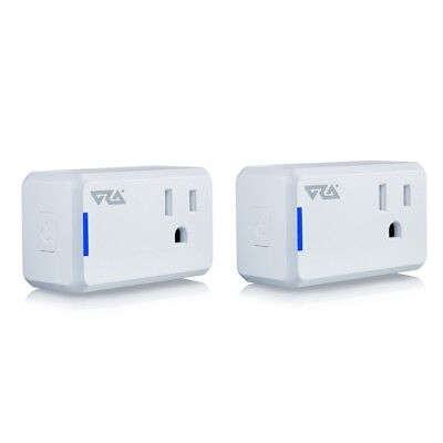 ORA Mini Smart Plug Wi-Fi Enabled Outlet - Alexa, Google Home Friendly - 2-Pack