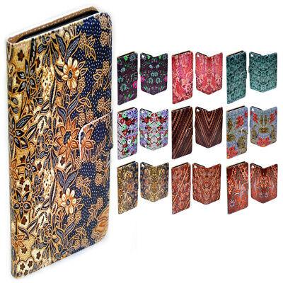 For Huawei Series - Batik Pattern Design Print Flip Case Mobile Phone Cover Pattern Design Case