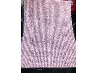 Carpet pink 5m wide full rolls any size cut