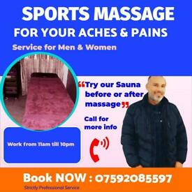 Sport massage and deep tissue massage by male therapist