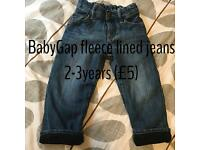BabyGap fleece jeans