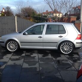 Volkswagen Golf 1.6 Match, 2003, with replica R32 alloys, lowered suspension and dual exhaust