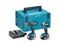 Makita DLX2173TJ 18V Li-Ion LXT Brushless Cordless Combi Drill & Impact Driver - Twin Pack
