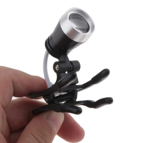 3W Clip-on LED Head Light Lamp for Dental Binocular Loupes Glasses US STOCK