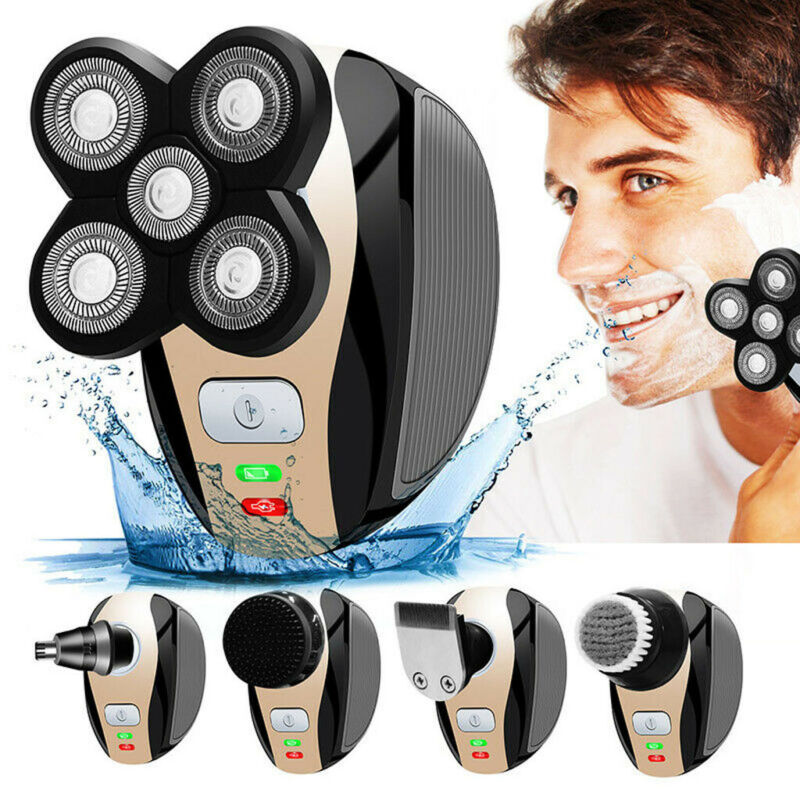 5 in 1 Rechargeable Bald Head Shaver Razor Hair Beard Trimme