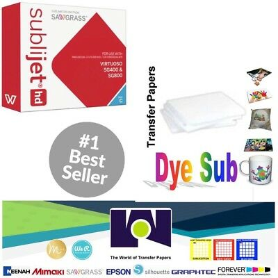 Sawgrass Virtuoso Sublimation Ink Cartridge Sg400sg800 Cyan 100 Sh Sublipaper