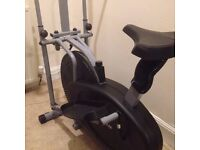 JTX 2-In-1: Cross Trainer and Exercise Bike