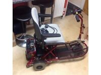 ULTRALITE CAR BOOT SIZED MOBILITY SCOOTER IN EXCELENT CONDITION,CARRIES 16STONE