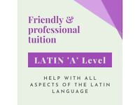 Help with 'A' Level Latin! Tuition & support from friendly, PhD qualified tutor