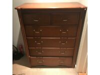 Set of Bedroom Furniture including wardrobe, chest of drawers and dressing table