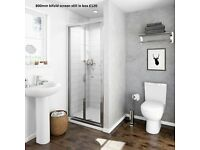 Shower Tray, size 1200x800mm, and Bi-fold Shower Door