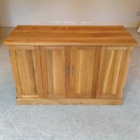 Solid Oak TV, DVD and PS Cabinet