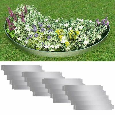 20x Flexible Lawn Fences Galvanised Steel 100x15cm Garden Border Edge