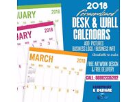 2018 PERSONALISED CALENDARS / PRINTERS / GRAPHIC DESIGNERS / WEBSITE DESIGNERS