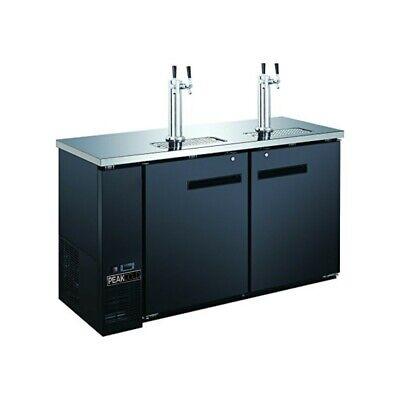 Peakcold 60 2 Door 4 Tap Beer Dispenser - Kegerator - Double Tap Keg Cooler