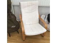 Cream ikea chair